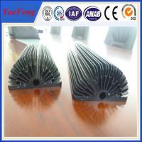 Hot! Black Anodized Aluminum Sunflower Heatsink, aluminum heat sink extrusion profiles Manufactures