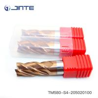 China 4 Flute Tungsten Carbide End Mill With AlCrSiN Coated For CNC Machining on sale