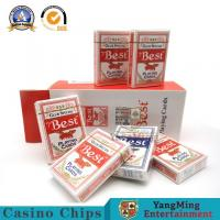 Simple Casino Poker Cards Blue core Papper Gambling Club Baccarat Table Games Manufactures