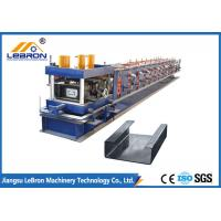 Easy Operation C Z Purlin Roll Forming Machine , C Channel Rollers 80mm Roller Shaft Manufactures