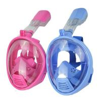 Quality Kid Full Face Snorkel Mask , Pink Color Seaview Snorkel Mask Wide View for sale
