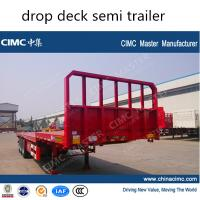 CIMC 3 axle drop deck semi trailer Manufactures
