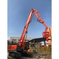 Low Noise Excavator Mounted Pile Driver , Hydraulic Pile Driver For Excavators Manufactures