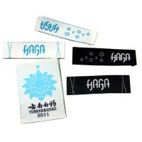Customized Design high density Woven  Laser Cut Clothing Labels Manufactures
