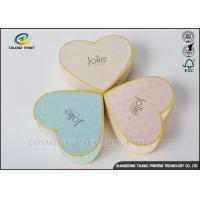 China Heart Appearance Cardboard Jewelry Boxes , Cardboard Candy Boxes Eye Catching on sale