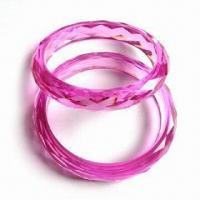 High-quality Imitation Crystal Bangles with Special Cut Surface, Latest Unique Style, Colors Varied Manufactures