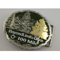 Double Plating 3D Man Custom Made Buckles For Running Awards Single Or Double - Sided Manufactures