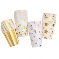 Eco Friendly Recycled Disposable Paper Cups For Coffee Water Milk Beverage Manufactures