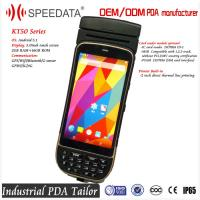 5.0 Inch Android Bluetooth Industrial PDA Thermal Printer Barcode Scanner 58mm Portable Manufactures