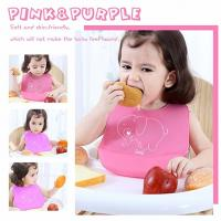 China Waterproof Soft Silicone Baby Apron Bib Easily Wipes Clean Customized Size for sale