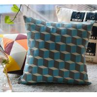 Cube grid cotton linen cushion,3D printed cushion cover,graphic vector drawing cushion Manufactures