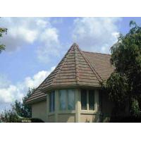 China shingle brown and golden colored sand coated metal roofing tile on sale