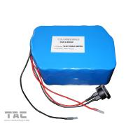 12V LiFePO4 Battery Pack  f'or Street Lamp  IFR 26650 50ah With Connector Manufactures