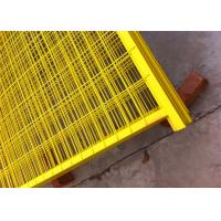 "Quality Canada standard Construction Temporar Fencing Panels 6'x9.6' mesh 2""x4""x3.2mm powder coated yellow 1.2""/30mm tubing for sale"