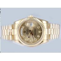 Wholesale Rolex Day-Date Automatic Full Gold With Golden Dial Watch,5 Years warranty Manufactures