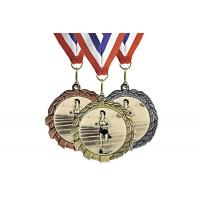 China Customized Gifts Miraculous Metal Gold Award Marathon Sports Medal With Ribbon Metal Award Medals on sale