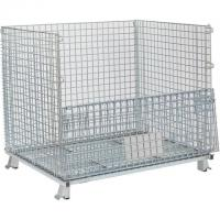 China Hot Dip Galvanized Wire Mesh Container Foldable Large Loading Capacity on sale