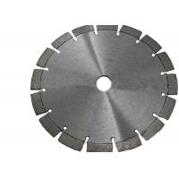 Laser Welded 125mm Diamond Circular Stone Saw Blade With 10mm Segment Height Manufactures