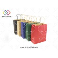Eco - Friendly Personalised Paper Bags , Block Bottom Colored Paper Bags Manufactures