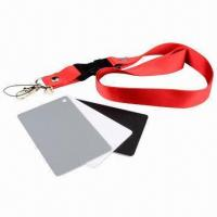 3-in-1 Digital Gray Card White Black 18% Gray Color White Balance Strap Manufactures