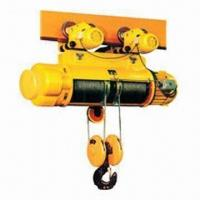 Motor driven electric hoist with double speed lifting, used mounted or hanging Manufactures