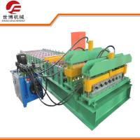 China High Speed Circular Arch Metal Roofing Roll Former , Profile Glazed Tile Forming Machine on sale