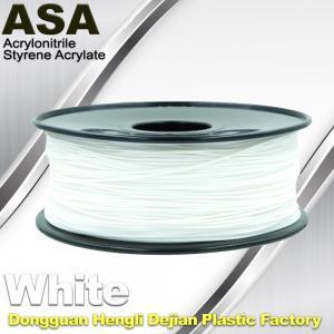 ASA 3D Printer Filament Ultraviolet Resist 1.75 / 3.0mm Black White Colors Manufactures