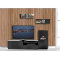 Buy cheap Environmental European Modern Showcase TV Stand With Pure Black Furnishing from wholesalers