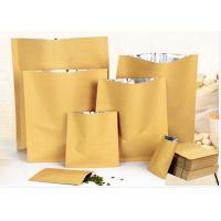 Zip Lock White Kraft Paper Pouch , Stand Up Zipper Pouch Bags With Matte Window Manufactures
