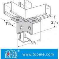 Steel Plate Galvanized Strut Channel Connecting Fitting Unistrut Channel Splice / Angle Fittings ISO