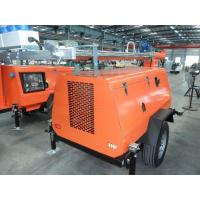 China Mobile Lighting Tower Genset Diesel Generator 6kw - 20kw Low Fuel Consumption on sale