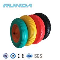 6 inch to 16 inch diameter any color solid pu industrial wheels Manufactures