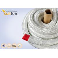 China Heat Insulation 550C Fiberglass Rope Gasket For Industrial Furnace Fireplaces on sale