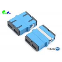 China High Performance Optical Fiber Adapter SC Duplex Single Mode Adapter With 9 / 125μm Reduced Flange Blue Plastic on sale