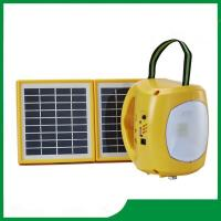 Rechargeable solar camping lantern, high qaulity led solar lantern light with 2pcs solar panel, phone charger Manufactures