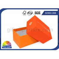 Fashion 2 Piece Full Color Printed Setup Boxes Jewelry Gift Box Orange Manufactures