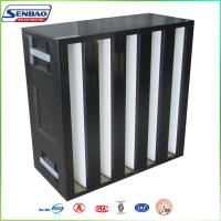 Cleanroom Solutions Box V Type High Efficiency Air Filter H13 H14 Manufactures