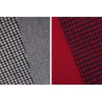 STOCK Houndstooth 70% Wool 30% Polyester Double Faced Fleece Fabric For Coats Manufactures