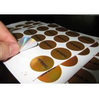 Buy cheap Customized laser film label color tags with Self-adhesive label from wholesalers