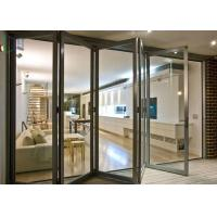 European Style Aluminium Glass Folding Doors Waterproof / Soundproof ISO 9001 Approved Manufactures