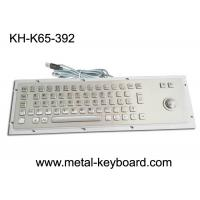 Ruggedized Industrial Metal SS Keyboard with Trackball For Accuate Pointing Device Manufactures