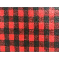 Pilling Resistance Tartan Plaid Fleece Fabric , Tartan Furniture Fabric 800g/M Manufactures