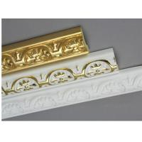 Quality Golden Decorative Polyurethane Crown Moulding Belt Line Hand Painted for sale