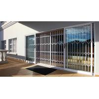 0.8 - 2.0mm Thickness Aluminium Security Doors With Extrusion Profile White Color Manufactures
