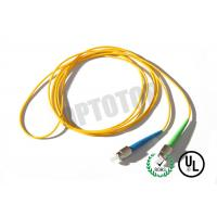 1F 1.6MM Custom Fc Fiber Patch Cord OS2 With Yellow Jacket , 85447000 HS Code Manufactures