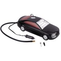 Quality 3 in 1 Car Shape Fast Plastic Air Compressor DC12V With LED Light For Tire Inflation for sale