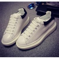 Brand design Casual Sneakers popular white lady Genuine leather Lace Up Shoes calfskin comfortable sneakers HC-104-1