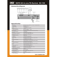 Alarm System SX-480e Music Amplifier Pa System To Provide Extra Channels 480w Manufactures