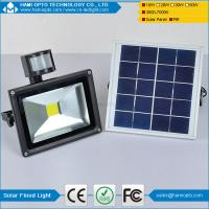 China Energy saving IP65 waterproof pir motion sensor 10W outdoor solar led flood light on sale