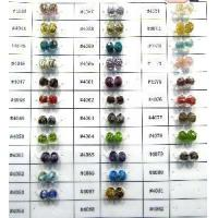 Glass Lampwork Beads Faceted Rondell Manufactures
